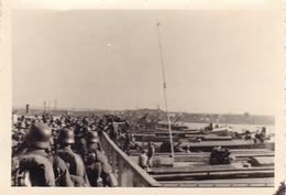 PHOTO ORIGINALE 39 / 45 WW2 WEHRMACHT ROUMANIE / BULGARIE FRONTIERES LES TROUPES ALLEMANDS - Guerra, Militares