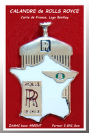 SUPER PIN'S ROLLS-ROYCE : La Superbe CALANDRE ROLLS-ROYCE Avec Carte De France Et Logo BENTLEY ZAMAC ARGENT 2,8X1,8cm - Andere