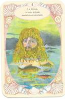 Carte De Jeu,Triton, Homme Dans L'eau De Mer, Cheveux Longs, Algues, Poissons, Coquillage - Coquille Saint Jacques - Autres Collections