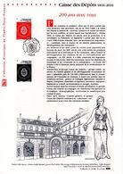 """"""" CAISSE DES DEPOTS """" Sur Document Philatélique Officiel De 2016.  N° YT 5045. Parfait état DPO - FDC"""