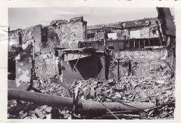 PHOTO ORIGINALE 39 / 45 WW2 WEHRMACHT FRANCE EVREUX LES RUINES DE LA VILLE - Guerre, Militaire