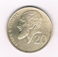 20 CENTS 2001  CYPRUS /9135// - Chypre