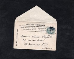 LSC - Entête SOCIETE GENERALE Sur  Mignonette Cachet PARIS - YT 111- Enveloppe Pour St Maur Des Fossés - Marcophilie (Lettres)