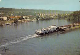 78 - LE PECQ : Bords De Seine ( Péniche En 1er Plan )  CPSM Grand Format - Yvelines - Barge Lastkähne Aken Chiatte - Le Pecq