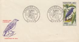 Enveloppe  FDC  1er  Jour  MALI   Merle  Amethyste   1960 - Sperlingsvögel & Singvögel