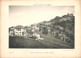 Prent (13 X 18 Cm) Paysages Suisses  Rigi Staffel Et Rigi Kulm - Altri