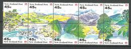 New Zealand 1992 Landscape Of New Zealand, Mountains, Fjord, Sea Mi 1244-1253 MNH(**) - Nouvelle-Zélande