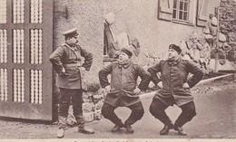 AK O Welche Lust Soldat Zu Sein - Soldaten Beim Turnen - Humor - Feldpost Fürth 1915 (45422) - Weltkrieg 1914-18