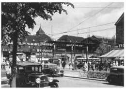 Berlin Bahnhof Zoo 1939 Reprint Auto Vintage Cars, Voitures - Mur De Berlin