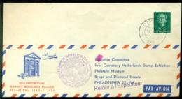 Nederland 1952 Speciale Vlucht Voor Tentoostelling Philadelphia Van Utrecht-Philadelphia VH 387a - 1949-1980 (Juliana)