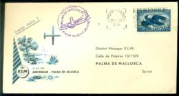 Nederland 1956 KLM-envelop 1e Vlucht Amsterdam-Palma De Mallorca VH 472a - 1949-1980 (Juliana)