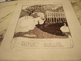 ANCIENNE PUBLICITE CREME   MALACEINE 1923 - Sin Clasificación