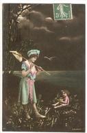 FAN 024  OLD POSTCARD , FEMALE FANTASY , ANGELS , ELFQUEST ,GNOMES - Femmes