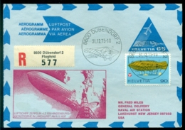 Switserland Helvetia 1975 Airmail Cover To Lakehurst NJ Hindenburg Disaster Returned To Sender (see Back) - Poste Aérienne