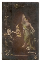 FAN 025  OLD POSTCARD , FEMALE FANTASY , ANGELS , ELFQUEST ,GNOMES - Femmes