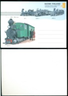 Finland Gefrankeerde Postkaart Voor Alle Landen Met Stoomtrein - Postwaardestukken