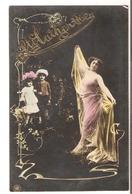 FAN 026  OLD POSTCARD , FEMALE FANTASY , ANGELS , ELFQUEST ,GNOMES - Femmes