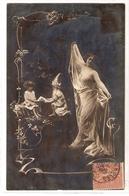 FAN 028  OLD POSTCARD , FEMALE FANTASY , ANGELS , ELFQUEST ,GNOMES - Femmes