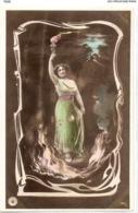 FAN 029  OLD POSTCARD , FEMALE FANTASY , ANGELS , ELFQUEST ,GNOMES - Femmes