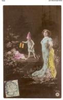 FAN 030  OLD POSTCARD , FEMALE FANTASY , ANGELS , ELFQUEST ,GNOMES - Femmes