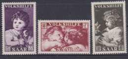 1953 Saar Volkshilfe Gemalde IV MNH**  -MI 344-346 - 1947-56 Occupation Alliée