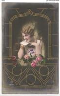FAN 033  OLD POSTCARD , FEMALE FANTASY , ANGELS , ELFQUEST ,GNOMES - Femmes