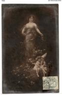 FAN 034  OLD POSTCARD , FEMALE FANTASY , ANGELS , ELFQUEST ,GNOMES - Femmes