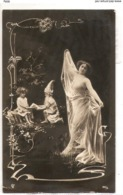 FAN 035  OLD POSTCARD , FEMALE FANTASY , ANGELS , ELFQUEST ,GNOMES - Femmes
