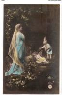FAN 036  OLD POSTCARD , FEMALE FANTASY , ANGELS , ELFQUEST ,GNOMES - Mujeres