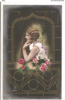 FAN 037  OLD POSTCARD , FEMALE FANTASY , ANGELS , ELFQUEST ,GNOMES - Femmes