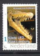 Nederland  Persoonlijke Zegel 20-10-19 Mosasaurus Hoffmani , Limburgse Filatelistendag 20-10-2019 Klimmen - Archäologie