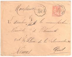 BOURG à LYON  Lettre Convoyeur Type 1 Ob 3/9/ 1903 15 C Mouchon Yv 125 - Railway Post