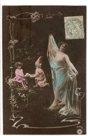 FAN 040  OLD POSTCARD , FEMALE FANTASY , ANGELS , ELFQUEST ,GNOMES - Femmes