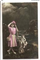 FAN 042  OLD POSTCARD , FEMALE FANTASY , ANGELS , ELFQUEST ,GNOMES - Femmes