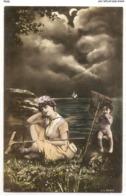 FAN 044  OLD POSTCARD , FEMALE FANTASY , ANGELS , ELFQUEST ,GNOMES - Mujeres