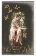 FAN 046  OLD POSTCARD , FEMALE FANTASY , ANGELS , ELFQUEST ,GNOMES - Femmes