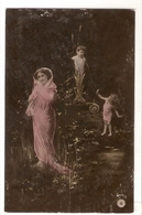 FAN 047  OLD POSTCARD , FEMALE FANTASY , ANGELS , ELFQUEST ,GNOMES - Femmes