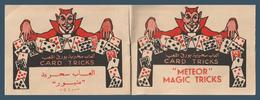 Rare - Vintage Booklet - METEOR - MAGIC TRICKS - 45 Pages - Arabic & English - 5 Scan - Blocs-feuillets