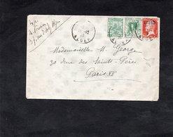 LSC - Cachets Alger Sur YT 22 & YT 37 & YT 42 - Briefe U. Dokumente