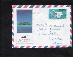 LSC 1984 - Cachets Rond Ile De TAHITI Sur YT 189 - Briefe U. Dokumente