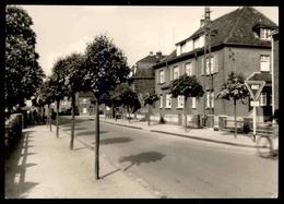 ALTES ORIGINAL FOTO STRAELEN VERLAG RIEGER Verkehrszeichen Kreuzung Strasse Allee Alley 10,3 X 7,3 Cm Photo - Places