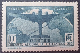 DF40266/844 - 1936 - CONQUÊTE AERIENNE DE L'ATLANTIQUE SUD - N°321 NEUF* LUXE - Cote : 150,00 € - France