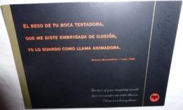 Carte Postale - Bacardi (boisson, Alcool) (chauve-souris) (recto Texte De Miguel Matamoros 1960) - Werbepostkarten