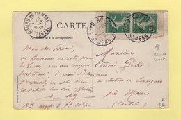 Type Semeuse - Paire De Carnet - Bordeaux Gare St Jean - 5-11-1913 - 1877-1920: Semi Modern Period