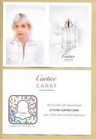 Carte Promo Perfume Card CARAT * CARTIER * R/V - Modernes (à Partir De 1961)