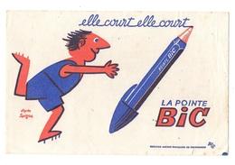 Buvard Elle Court Elle Court La Pointe Bic - Buvards, Protège-cahiers Illustrés