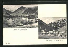 AK Le Sepey, Hotel Mont D'Or, Ortsansicht Mit Bergmassiv - VD Vaud