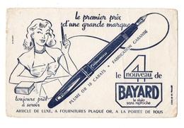Buvard Le Nouveau De Bayard Le Stylo Sans Reproche Plume Or 18 Carats Fabrication Garantie - Buvards, Protège-cahiers Illustrés