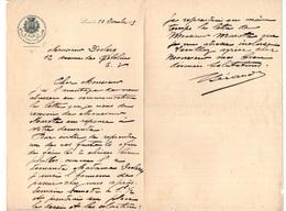 Lettre Manuscrite Manufacture De Broderies Dentelles - Etoffes Et Passementeries D'ameublement Paris En 1903 - 1900 – 1949