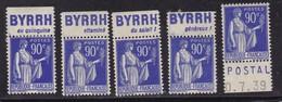 PUBLICITE  PAIX 90C LOT DE 5 TIMBRES NEUFS* + 1 65C BYRRH / POSTAL - Publicités